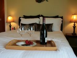 Wine on the bed